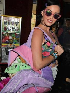 Katy Perry in @Clarissa Cutler AND GROSS Giles Daphers frames