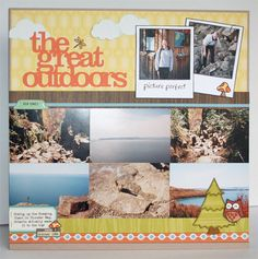 Outdoors scrapbook layout by Stephanie Klauck