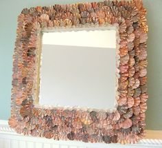 scallop shell mirror, this would be so easy to make!