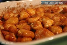 Baked Sweet & Sour Chicken | Kathy's Kitchen Table