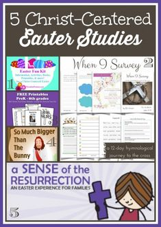 5 Easter studies to help you point your kids to the Wonderful Cross!!