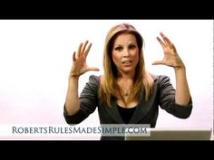 Robert's Rules of Order - Mastering the 3 Most Important Motions - YouTube