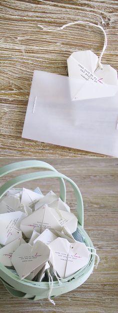 The DIY Origami Heart Invitations
