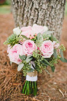 Pink Roses - Exquisite Wedding Bouquet
