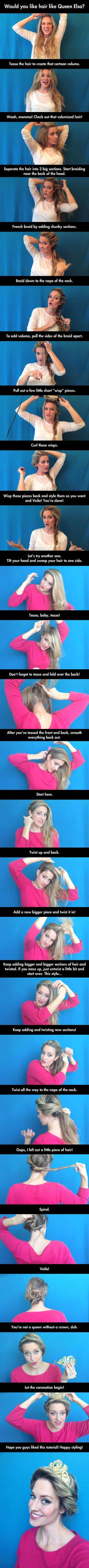 How to style your hair like Elsa