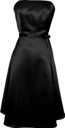 50's Strapless Satin Formal Bridesmaid Prom Dress Holiday Gown --- http://www.pinterest.com.mnn.co/ij