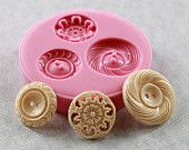 vintage buttons, button mold, polymer clay, craft jewelry