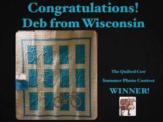 Quilt winner Deb Ehlers.