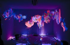Glow-in-the-dark paint