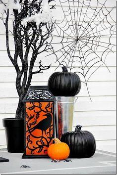 Halloween front door pumpkin