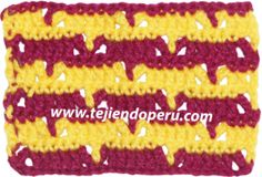 Punto calado en V tejido a crochet!