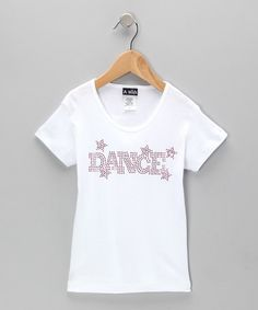 Take a look at this White 'Dance' Star Tee - Toddler & Girls by A Wish on #zulily today!