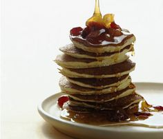 Happy National Pancake Day! Whip up these Strawberry Banana Pancakes for a sinless splurge #SelfMagazine