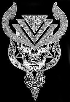 skulls, skullart, decor skull, symbol, jondix, skull illustr, macabr, skull art, tattoo