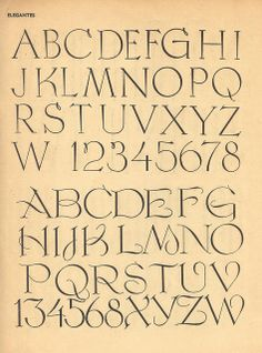 Vintage French type, 100 Alphabets Publicitaires, 1946
