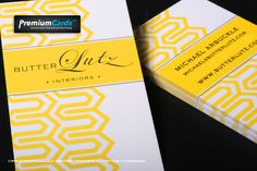 yellow silk cards -...