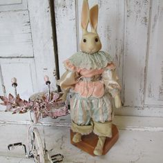 Porcelain rabbit statue story book style by AnitaSperoDesign, $175.00