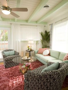 Eclectic Living-rooms from Drew and Jonathan Scott on HGTV