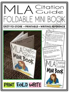 MLA Citation Guide Mini-Book (foldable, printable, fun-filled resource!) from The Classroom Sparrow on TeachersNotebook.com -  (11 pages)  - This mini-book is a great addition to any English Language Arts classroom, and suitable for a variety of levels. Students no longer have an excuse for misplacing their notes,