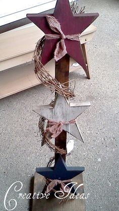 Creative Ideas: Primitive Decor. The blog mentions a place in WV that I should visit for ideas!
