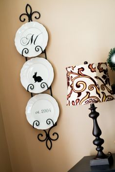 vinyl monogrammed plates