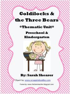 Thematic Unit- Goldilocks and the Three Bears (Fairy Tales)-Hurry up! This giveaway promotion ends at 11:59:59PM CST on 04-04-2013