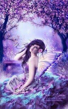 Purple/blue fairy