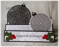 Features Our Daily Bread Designs' November release Vintage Pattern Ornaments and coordinating Circle Ornaments die