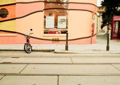 orang peach, print bicycl, pari, bicycl photographi, cycl print, bicycl art