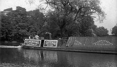 "Captioned: ""Steam narrowboat Emperor at London prior to 1908""  #canal #barge #fmc #steam #narrowboat #london #waterway #fellows #morton #clayton"