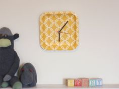 You can make a clock out of anything that you can punch a hole through