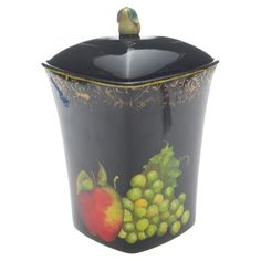 Fruit Filigree Biscuit Jar from the Wine & Cheese Party event at Joss and Main!