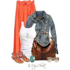 Love this outfit for summer or spring! day or casual evening look....this is one of my easiest most favorite way to dress