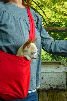 red twill kangaroo pouch by hodgepodgefarm