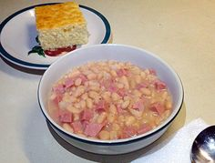 """All Day Ham & Beans - """"An old classic that my mom used to make when I was young."""" @allthecooks #recipe"""