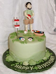 Disc Golf Grooms cake
