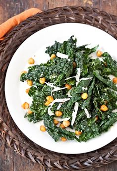 Tuscan kale with roasted chickpeas