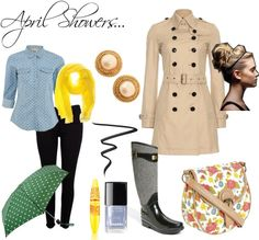 """""""April Showers"""" by melaniesims on Polyvore"""