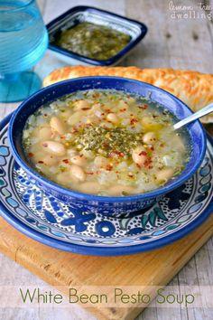 White Bean Pesto Soup