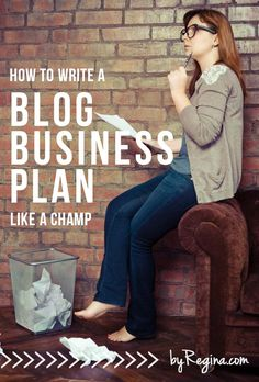 how to write a blog business plan.