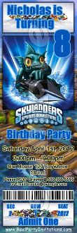 SKYLANDERS TICKET STYLE INVITATIONS (WITH ENVELOPES)