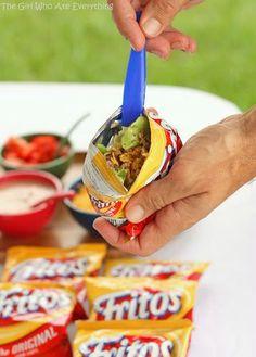 Walking Tacos-LOVE THIS IDEA