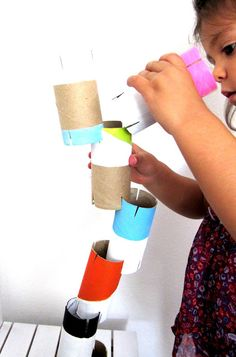 Our Creative World: Torres with toilet rolls #kids #crafts