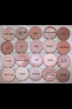 I want every one of these! Best Neutrals Ever- all MAC eyeshadows