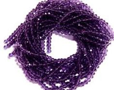 Amethyst 6mm faceted AAA Top Gem Quality strands 14 inches www.etsy.com/thebeadnikdivas