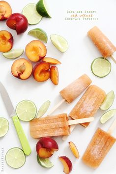 Dark and Stormy Cocktail Popsicles