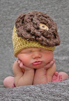 Baby Girl Crochet Hat Big Flower Hat