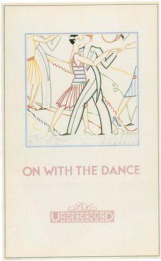 London Underground Poster,Dance