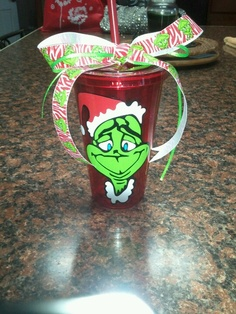 Grinch cup christmas