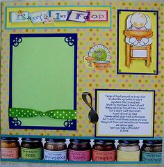 Baby's First Food One 12x12 Premade Scrapbook Page | eBay